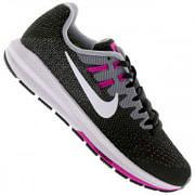 Tênis Nike Air Zoom Structure 20 - Feminino - CINZA ESCURO/BRANCO
