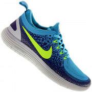 Tênis Nike Free RN Distance 2 - Feminino - AZUL CLA/ROXO
