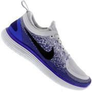 Tênis Nike Free RN Distance 2 - Feminino - CINZA CLA/AZUL ESC