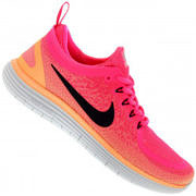 Tênis Nike Free RN Distance 2 - Feminino - ROSA/PRETO
