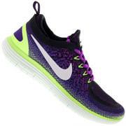 Tênis Nike Free RN Distance 2 - Feminino - Roxo Esc/Verde Cla