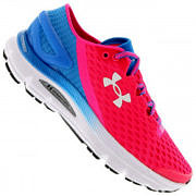 Tênis Under Armour SpeedForm® Gemini 2 - Feminino - Rosa/Azul Claro