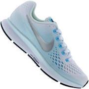 Tênis Nike Air Zoom Pegasus 34 - Feminino - BRANCO/AZUL CLA