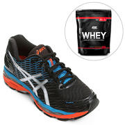 Kit Tênis Asics Gel Nimbus 18 + ON Whey 100% 1,82 Lbs - Optimum Nutrition