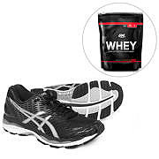 Kit Tênis Asics Gel Nimbus 18 + ON Whey 100% 1,82 Lbs - Optimum Nutrition