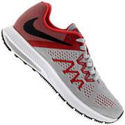 Tênis Nike Zoom Winflo 3 - Masculino - CINZA/VERMELHO