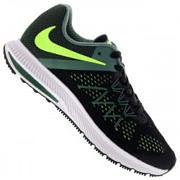 Tênis Nike Zoom Winflo 3 - Masculino - PRETO/VERDE ESCURO
