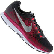 Tênis Nike Air Zoom Pegasus 34 Gem - Feminino - Marrom Esc/Vinho