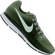 Tênis Nike Air Zoom Pegasus 34 - Feminino - CINZA/BRANCO
